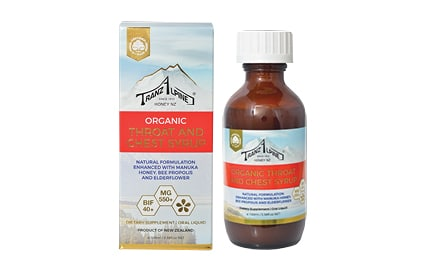 Organic Throat and Chest syrup with Propolis and Manuka honey