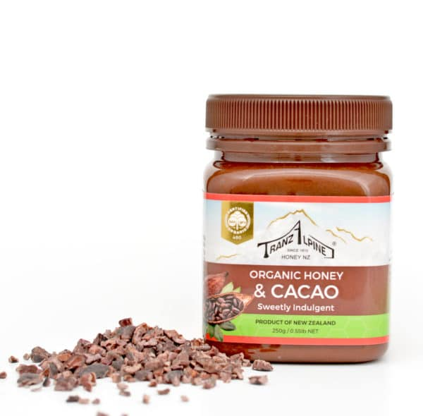 Organic honey with cacao