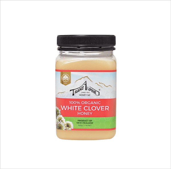 Pure White clover honey from New Zealand