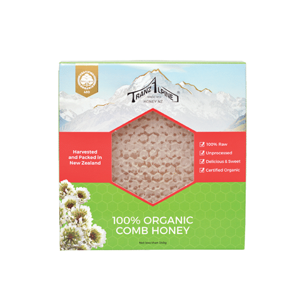 TranzAlpine Honey shop comb honey 340g