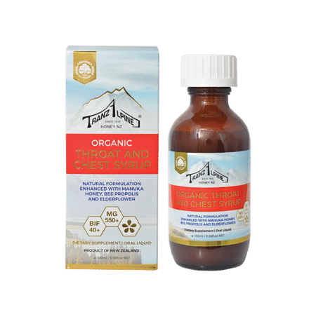 Organic certified Propolis throat and chest syrup