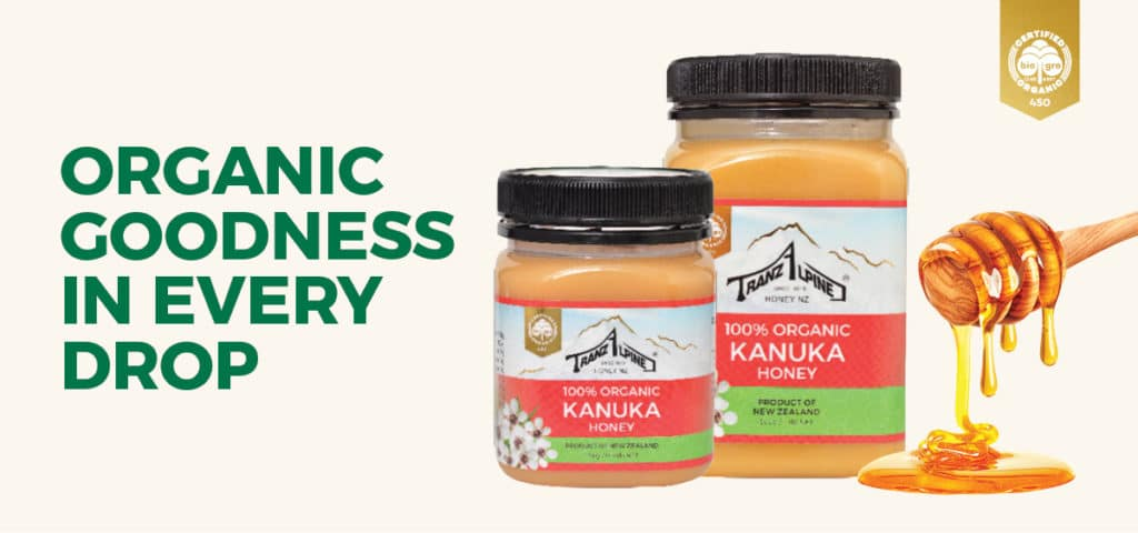 TranzAlpine honey 25th anniversary organic certification 960x450