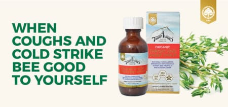 Organic chest syrup with Manuka honey and propolis